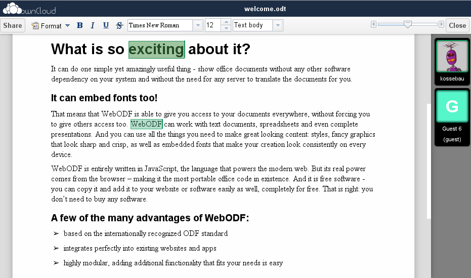 WebODF