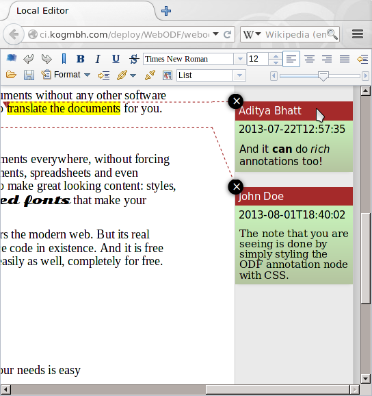 Adding rich annotations.